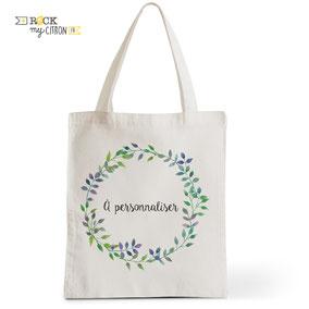 Tote Bag à personnaliser Rock my Citron, Brindilles, Cadeaux Fêtes, Anniversaires, Mariages