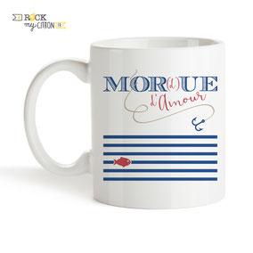 Mug à personnaliser Rock my Citron, Mor(d)ue d'Amour, Cadeaux Fêtes, Anniversaires, Mariages, Naissances, EVJF, EVG