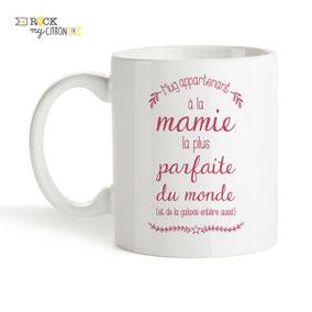 Mug à personnaliser Rock my Citron, Mamie Parfaite, Cadeaux Fêtes, Anniversaires, Mariages, Naissances, EVJF, EVG