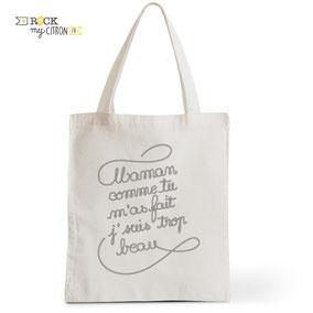 Tote Bag Rock my Citron, Bébé Beau Gosse, Cadeaux Fêtes, Anniversaires, Naissances