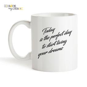 Mug à personnaliser Rock my Citron, Perfect Day, Cadeaux Fêtes, Anniversaires, Mariages, Naissances, EVJF, EVG
