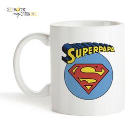 Mug à personnaliser Rock my Citron, Super Papa, Cadeaux Fêtes, Anniversaires, Mariages, Naissances, EVJF, EVG