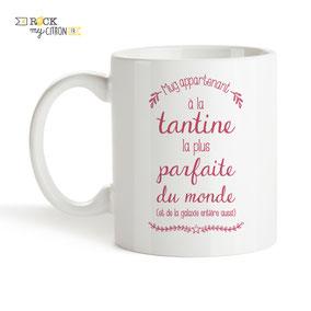 Mug à personnaliser Rock my Citron, Tantine Parfaite, Cadeaux Fêtes, Anniversaires, Mariages, Naissances, EVJF, EVG