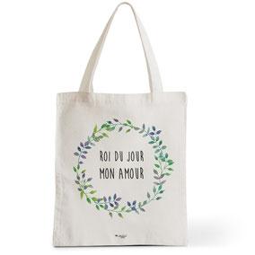 Tote Bag Rock my Citron,  Roi Du Jour, Cadeaux Fêtes, Anniversaires, Naissances