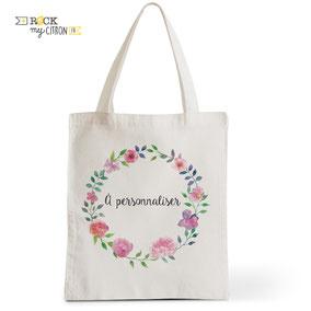 Tote Bag à personnaliser Rock my Citron, Folk, Cadeaux Fêtes, Anniversaires, Mariages