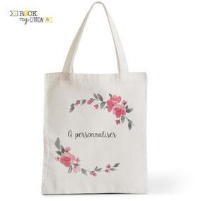 Tote Bag à personnaliser Rock my Citron, Gipsy Cadeaux Fêtes, Anniversaires, Mariages