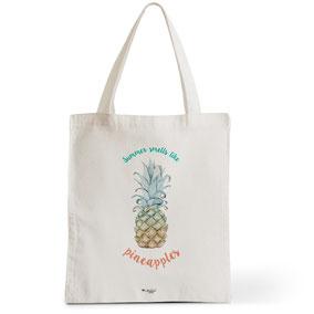 Tote Bag Rock my Citron,  Summer Smells Like Pineapple, Cadeaux Fêtes, Anniversaires, Naissances