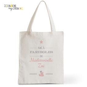 Tote Bag Rock my Citron, Bébé Duck, Cadeaux personnalisés Fêtes, Anniversaires, Naissances