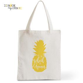 Tote Bag Rock my Citron, Y'a Du Soleil, Cadeaux Fêtes, Anniversaires, Naissances