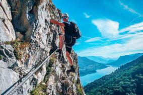 Klettersteig gehen für Anfänger