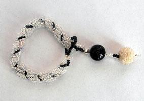 Schmuck Armband Rocailles glasfarben