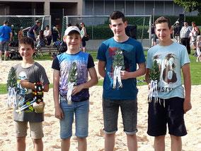 Jonas, Nicola, Luca und Reto