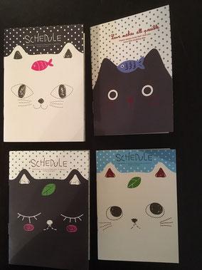 1 von 4 verschiedenen Katzennotizbüchern
