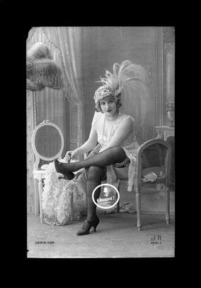 jean agelou - agelou - maud d'orby - opera - belle epoque - charme - erotique - negatif - 1900 - 1920 - nu - cabaret - french card - risk - carte postale - paris - vintage