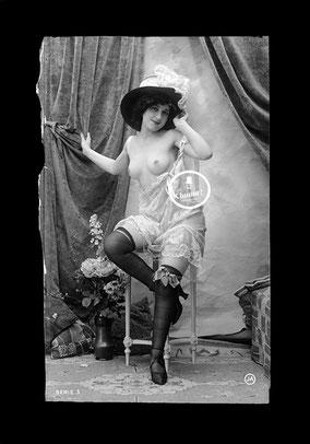 jean agelou - agelou - belle epoque - charme - erotique - negatif - 1900 - 1920 - nu - cabaret - french card - risk - carte postale - paris - dentelle - vintage