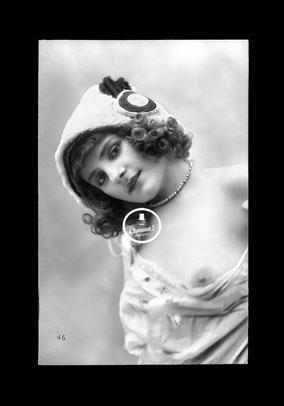 jean agelou - agelou - belle epoque - charme - erotique - negatif - 1900 - 1920 - nu - mariane - french card - risk - carte postale - paris - dentelle - vintage