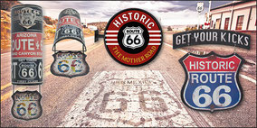 Signs aus Metall Motiv Route 66