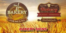 Metall Werbeschilder für Cafe Bäckereien