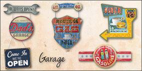 Blechschilder mit Route 66 Motiven