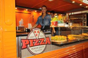 Pizza Werbung Metallschild