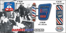 Werbeschilder Barbershop aus Metall