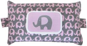 baby geschnek elefant rosa grau babytücher feuchttücher windeln penaten pampers bübchen hülle stoff reissverschluss