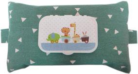 Babytücher Hipp Penaten Pampers sensitiv Tasche Hülle Stoff Baumwolle Reißverschluss Feuchttücherhülle Geschenk Geburt