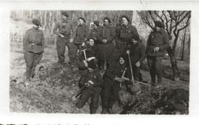 1939 - Divonne les Bains - travaux défensifs près de la frontière suisse