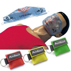 CPR lifekey / beademingsdoek met ventiel
