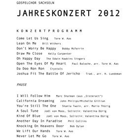 2012   Gospelchor Sachseln: Come Let Us Sing