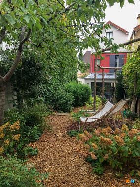 Le jardin après