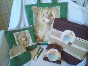 Conjuntos artesanales y personalizables de bolsos y complementos