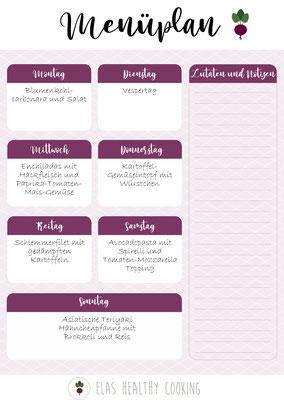 Wochenplan Teil 6