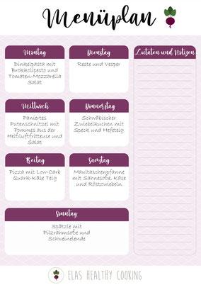 Wochenplan Teil 2