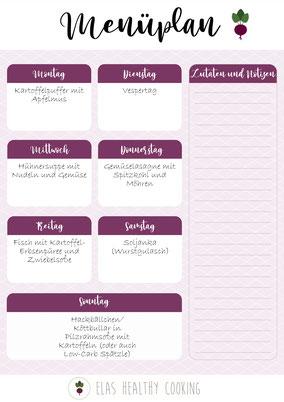 Wochenplan Teil 5