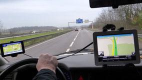 bis Narbonne 1200 km Autobahn