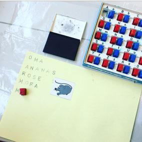 Buchstabenstempel