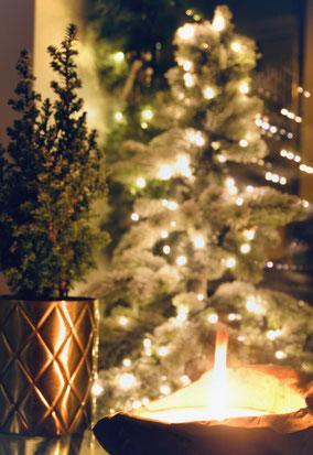 Weihnachtsdekoration Kerze