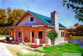 portrait-en-peinture-maison