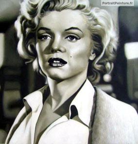 portrait-Marylin-Monroe-peinture