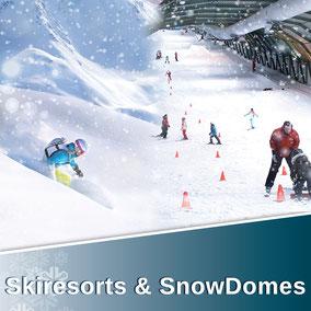 Skiresorts & SnowDomes, SnowPlay und Snowfarming