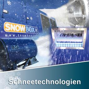 Die Schneetechnologien von Snow-Industreis beinhalten: SnowBOX, SnowFALL, SnowGUN, POWDERstream
