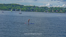 Stand Up Paddling (SUP) auf dem Starnbergersee