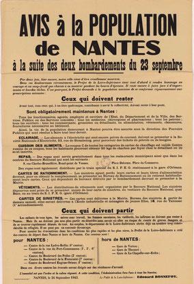 Affiche pour les évacuations de Nantes