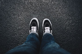 both feet on the ground. thanks to f.zella and unsplash