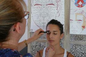 Séance de Dien Chan, réflexologie faciale La Rochelle, Frédérique Maggiorani