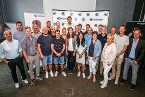 Der Basketballer und Markenbotschafter bei einem Meet & Greet der Bauerfeind AG
