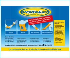 Die Anzeigenschaltung mit den wichtigsten Infos zu OrthoLev