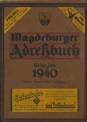 Adressbuch 1940