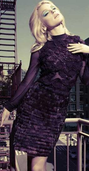 紫 ドレス